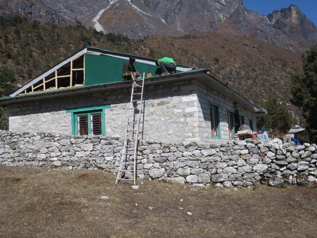 Maintenance of gable in long stay ward - Kunde Hospital