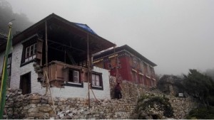Chamkang Monestary damaged