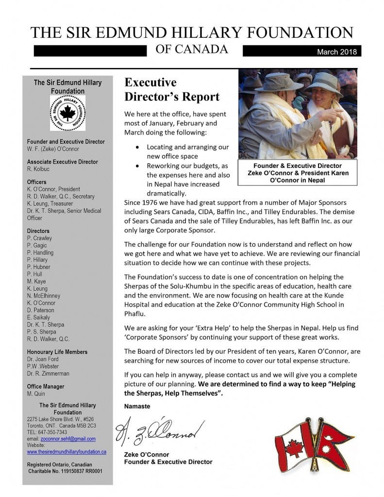 Front Cover - ED Report March 2018- Apr 11