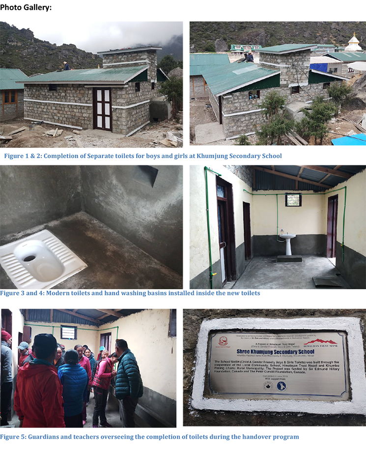Project Completion Report - Toilet Construction at Khumjung School-2